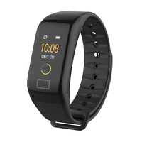 F1 Plus 0.66-inch Colored Screen Bluetooth 4.0 IP67 Smart Bracelet with Blood Pressure / Heart Rate