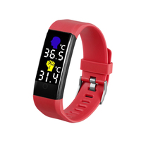 115 Pro Smart Bracelet Temperature Monitor Heart Rate Fintess Tracker Waterproof Smartwatch for Andr